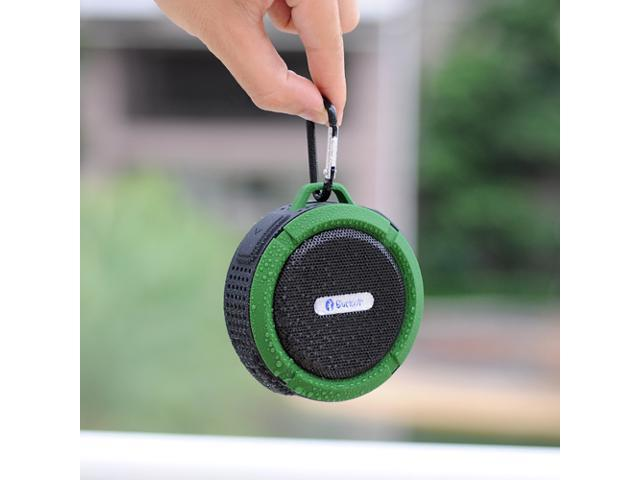 Green Portable Waterproof Shockproof Dustproof Handsfree Bluetooth 3.0 A2DP Stereo Sport Speaker with Suction Cup & Built-in Mic for Samsung ...