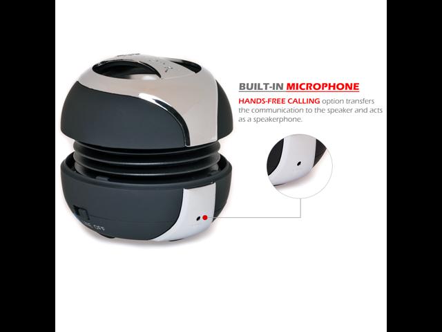 Alpatronix AX300 X-tra Strong Bluetooth Portable Mini Capsule Speaker/handsfree for iPhone/iPod/iPad/smartphone (Bluetooth and headphone jack) - ...
