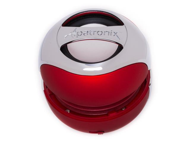 Alpatronix AX300 Ultra Portable Mini Bluetooth High Definition Capsule Speaker System with Built-in Mic and Speakerphone Red
