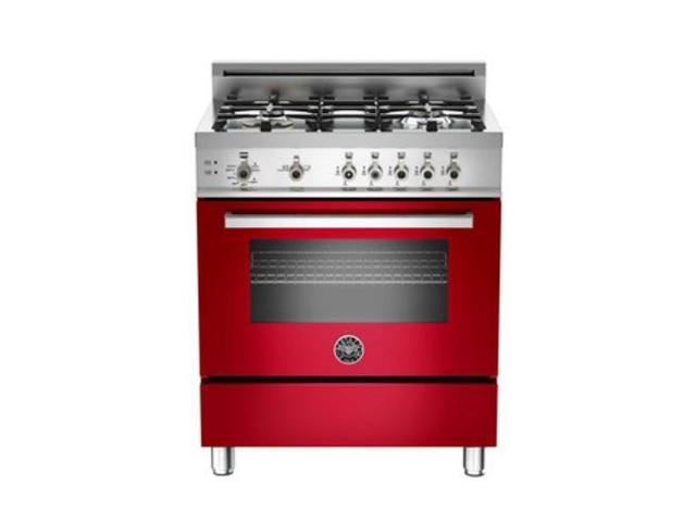 Bertazzoni PRO304GASROLP: Red 30 4-Burner, Gas Range