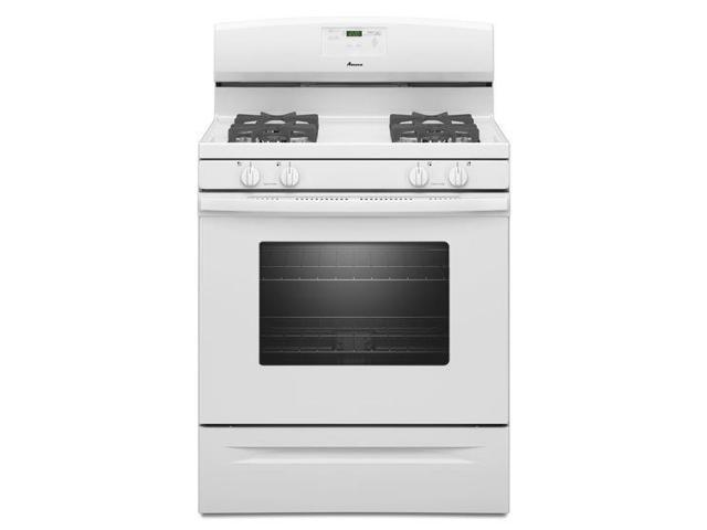 Amana AGR5630BDW: 5.0 cu. ft. Gas Oven Range with Easy Touch Electronic Controls - white