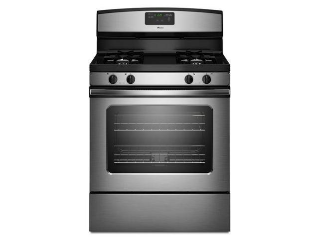 Amana AGR5630BDS: 5.0 cu. ft. Gas Oven Range with Easy Touch Electronic Controls - stainless steel