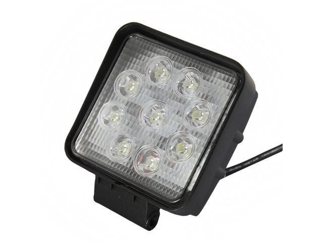 DBPOWER Square LED Work Light Lamp Off Road High Power ATV Jeep 27W Round 30 Degree Round Spot Light