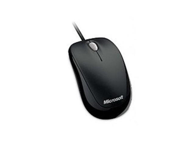 Microsoft 4HH-00001 500 Compact Optical Mouse for Business - USB - Cable - Black