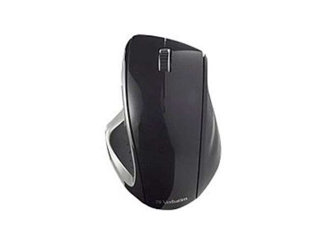 Verbatim 97591 Ergo Wireless Desktop Optical Mouse - 2.4 GHz - USB - Black