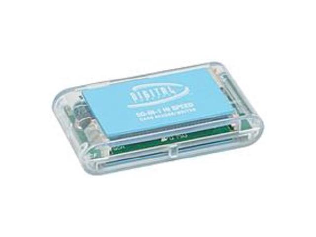 Sakar CR-72-ECO-BLU 50-in-1 Eco-friendly Memory Card Reader - Blue
