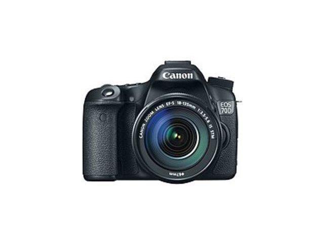 Canon EOS 8469B016 70D 20.2 Megapixels Digital SLR Camera - 7.5x Optical Zoom - 3-inch LCD Display - Black