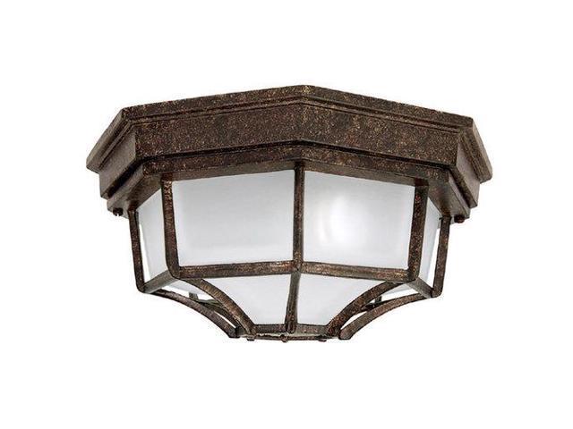 Capital Lighting 9800TS 2 Light Outdoor Ceiling Fixture, Tortoise