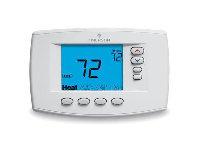 White-Rodgers 1F95EZ-0671 Universal 7-Day Programmable Thermostat with 6-Square-