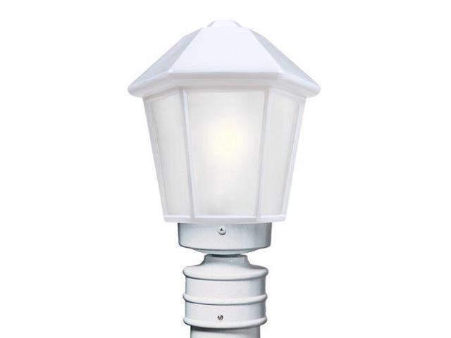 Costaluz 3272-POST-FR 1 Light Incandescent Post Light with Frosted Glass Shade, White