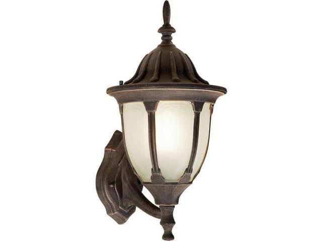 Forte Lighting 17033-01 Energy Efficient Fluorescent 9.5Wx18Hx11E Outdoor Wall S, Painted Rust