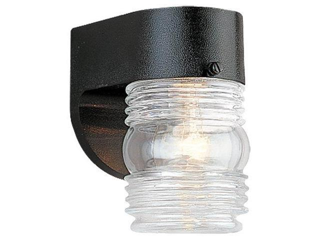 Sea Gull Lighting Single-Light Outdoor Wall Fixture in Black - 8750-12