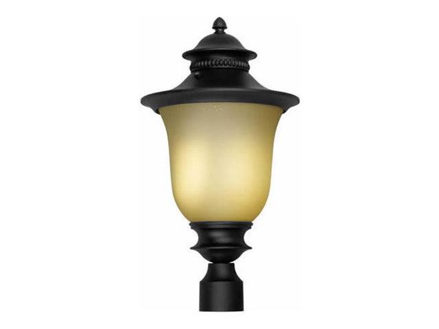 Forte Lighting 17031-01 Energy Efficient Fluorescent 12Wx21H Post Light, Black