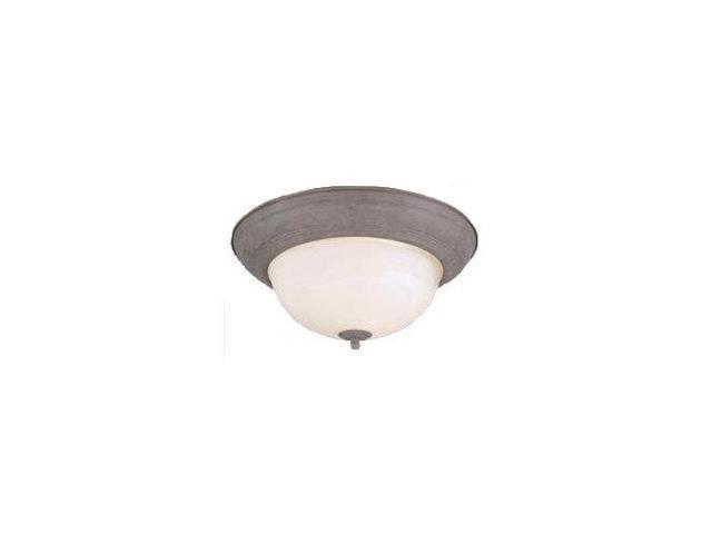 Forte Lighting 20008-02 Energy Efficient Fluorescent 14Wx6H Indoor Flushmount Ce, Desert Stone
