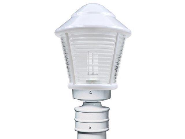 Costaluz 3100-F1-POST 1 Light CFL Post Light with Clear Glass Shade, White