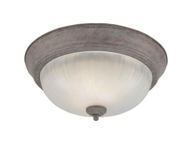 Forte Lighting 20000-02 Energy Efficient Fluorescent 11.25Wx6H Indoor Flushmount, Desert Stone