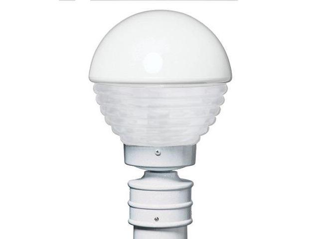 Costaluz 3061-GU24-POST-FR 1 Light GU24 CFL Post Light with Frosted Glass Shade, White