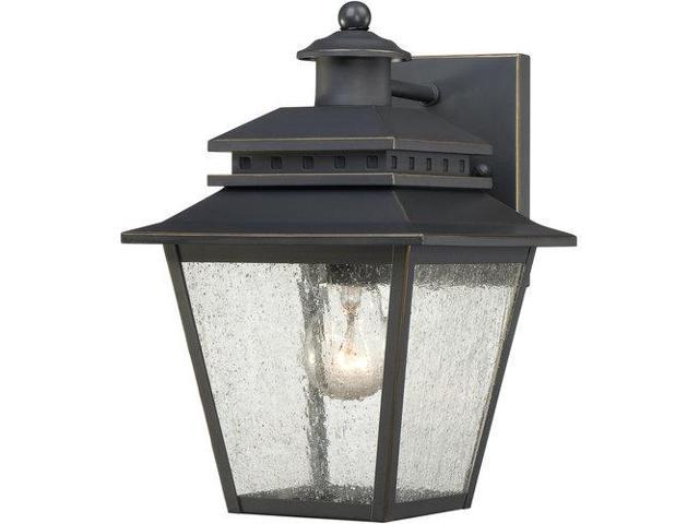 Quoizel 1 Light Carson Outdoor Fixture in Weathered Bronze - CAN8407WB