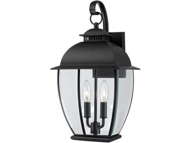Quoizel 2 Light Bain Outdoor Fixture in Mystic Black - BAN8409K
