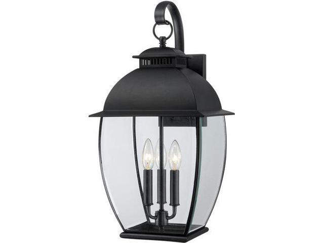 Quoizel 3 Light Bain Outdoor Fixture in Mystic Black - BAN8411K