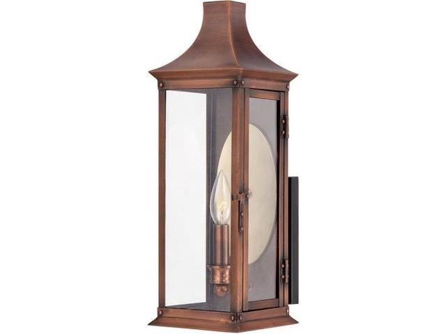 Quoizel 1 Light Salem Outdoor Fixture in Aged Copper - SLM8406AC