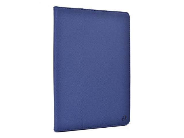 Kroo Dark Blue Universal Folio Case with Camera Fold for AZPEN A727 7