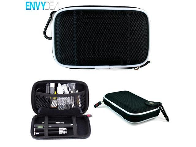 Vape and E-Cigarette Hardshell Case with Durable Nylon Material, Two elastic Straps and Elastic Netted Pouch. Big Enough to hold 18650 Battery Mods