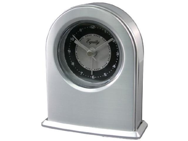 Equity By La Crosse Quartz Metal Plated Alarm Clock 20901