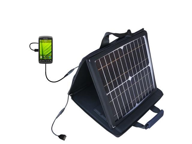 SunVolt MAX Solar Charger compatible with the Blackberry Monza and one other device; charge from sun at wall outlet-like speed
