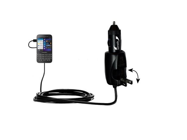 Car & Home 2 in 1 Charger compatible with the Blackberry Q5