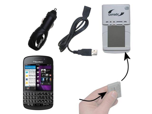 Lithium Battery Fast Charger compatible with the Blackberry Q10