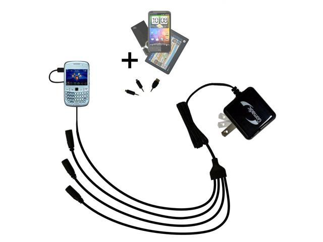 Quad output Wall Charger includes tip for the Blackberry Gemini