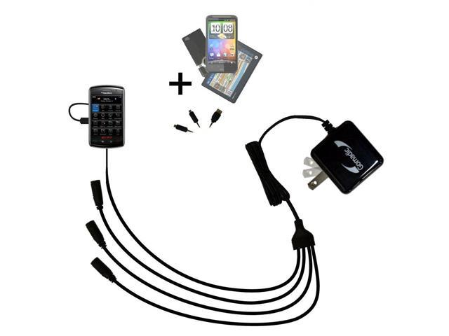 Quad output Wall Charger includes tip for the Blackberry Storm 2