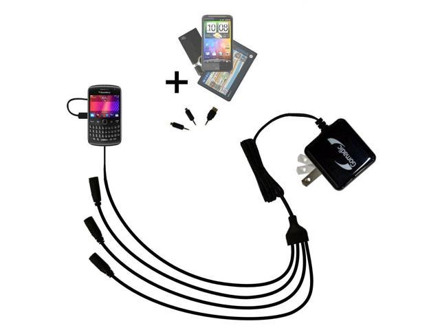 Quad output Wall Charger includes tip for the Blackberry Curve 9360