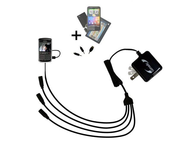 Quad output Wall Charger includes tip for the Blackberry Javelin