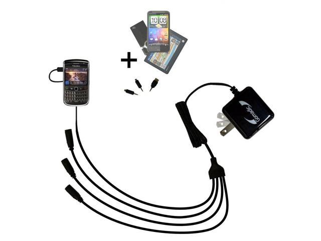 Quad output Wall Charger includes tip for the Blackberry Essex