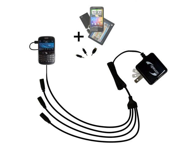 Quad output Wall Charger includes tip for the Blackberry 9000