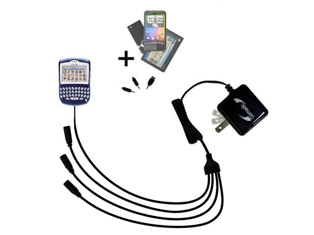 Quad output Wall Charger includes tip for the Blackberry 7200 7230 7290