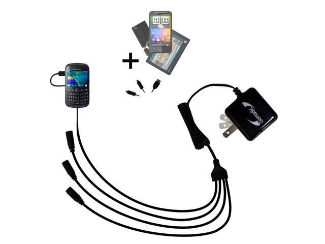 Quad output Wall Charger includes tip for the Blackberry Curve 3G 9330