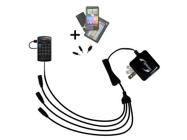 Quad output Wall Charger includes tip for the Blackberry Storm