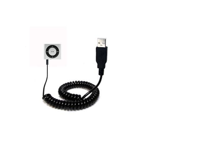 Coiled USB Cable compatible with the Apple Shuffle