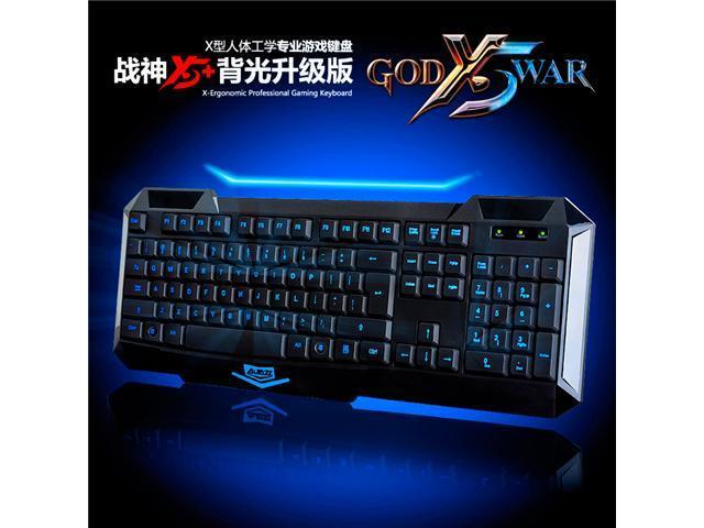 A-JAZZ AJAZZ A5+ USB Backlit LED Illuminated Ergonomic Game Gaming Keyboard
