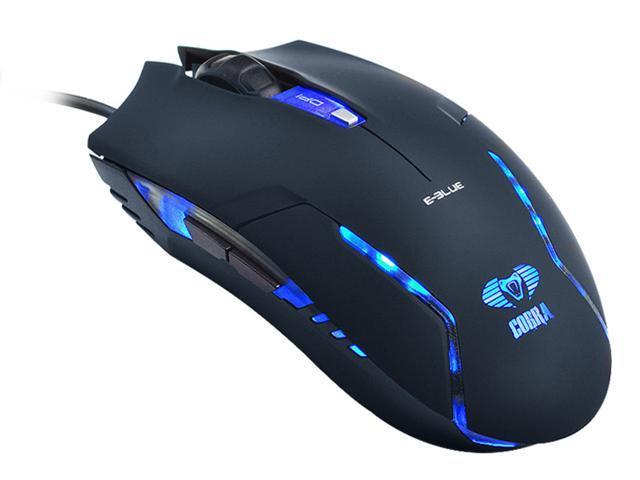 E-3lue E-Blue Cobra II 1600DPI High Precision Pro Game Gaming Mouse for Windows Mac / BLACK