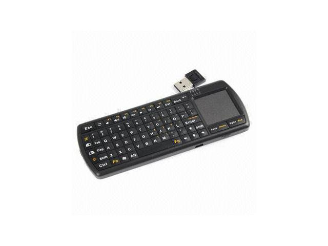 Radio Freq 2.4Ghz Wireless Mini Keyboard with Touchpad and Flashlight for PC laptop Android TV HDTV (black)
