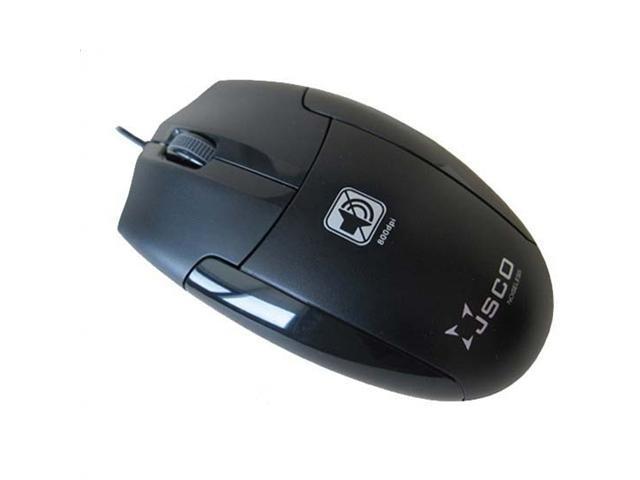 JSCO™ JNL-006K Silent Quiet 96% Noiseless Click Button Wired Optical Mouse 800 DPI