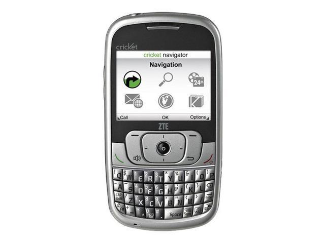 ZTE Memo A415 Full Qwerty Silver Cricket Cellular Phone - Cricket Wireless - OEM