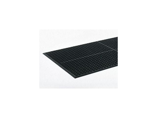 Safewalk-Light Heavy-Duty Anti-Fatigue Mat, Rubber, 36 x 60, Black