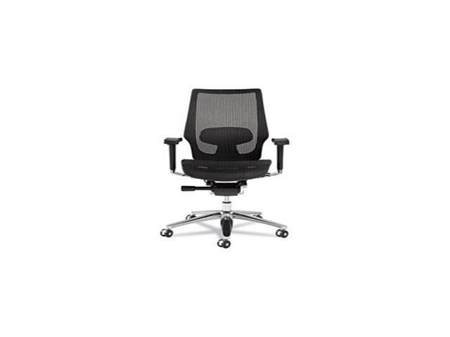 K8 Series Ergonomic Multifunction Mesh Chair, Aluminum Base/Frame, Bla