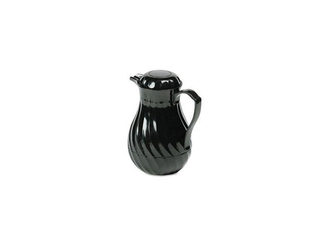 Poly Lined Carafe, Swirl Design, 64 oz. Capacity, Black