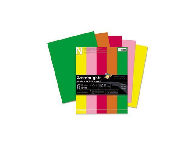 Astrobrights Colored Paper, 24lb, 8-1/2 x 11, Assortment, 500 Sheets/Ream